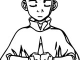 Aang Meditates Avatar Aang Coloring Page