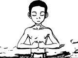Aang Meditating Into The Avatar State Avatar Aang Coloring Page