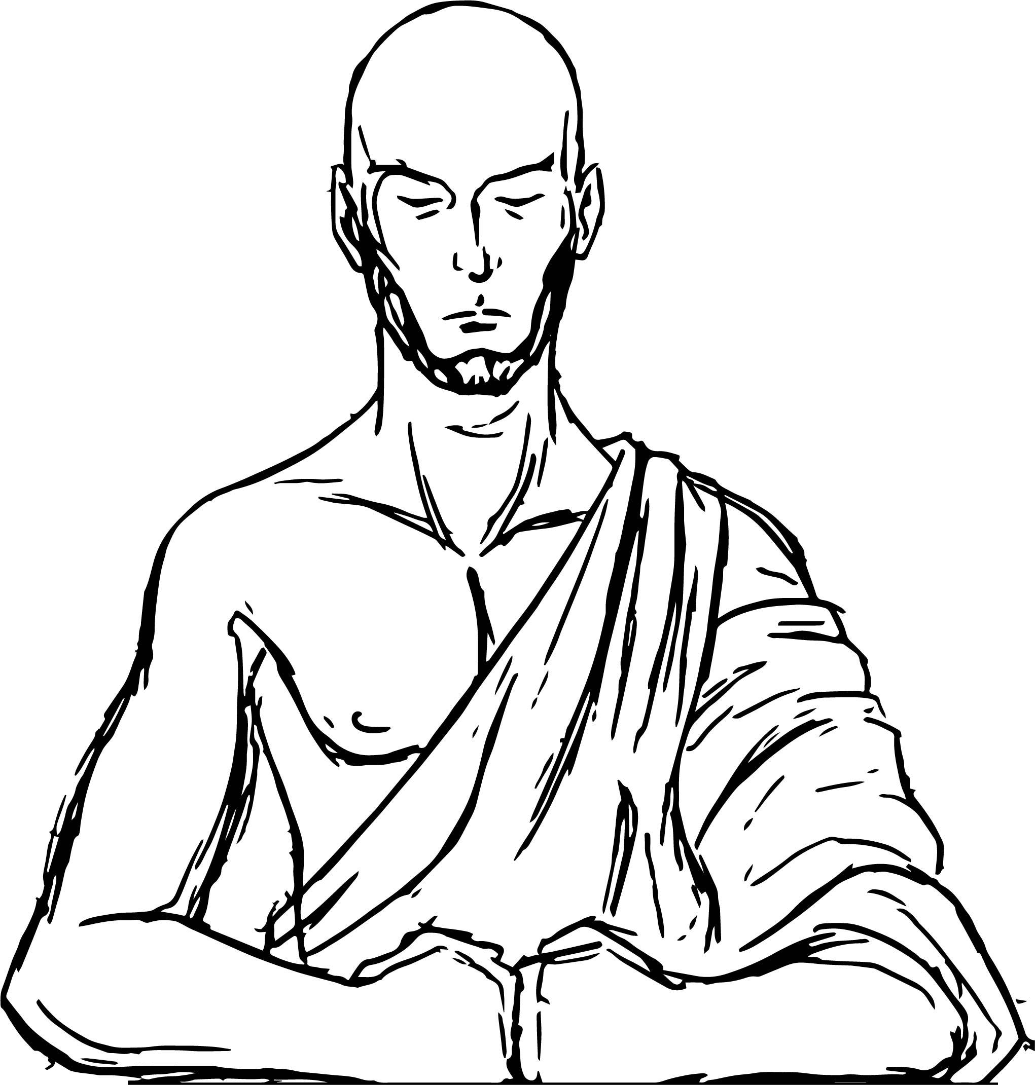 sokka coloring pages - aang meditating smmorela avatar aang coloring page