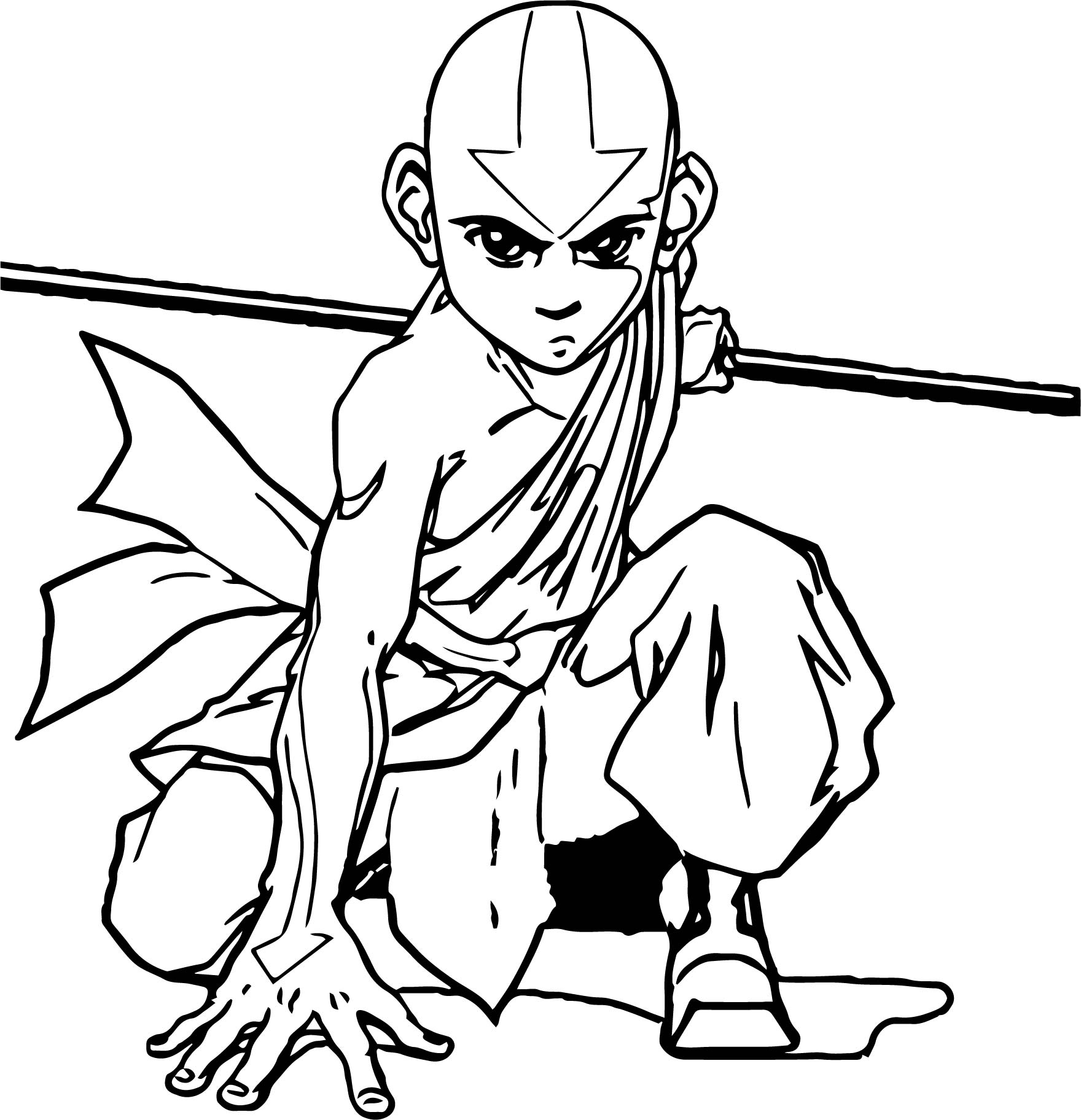 Aang Official Avatar Aang Coloring Page
