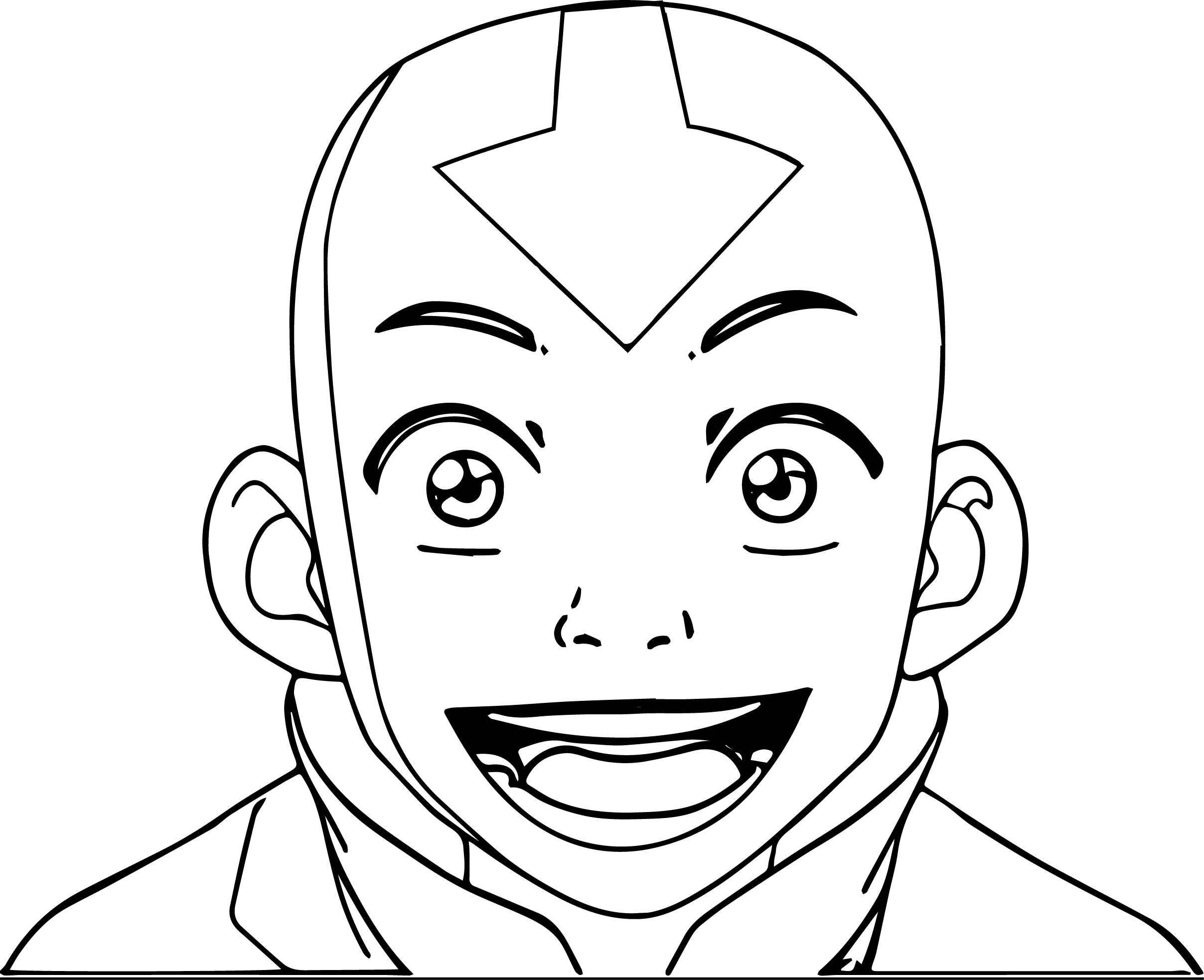 Aang The Last Airbender Cigsace Avatar Coloring Page