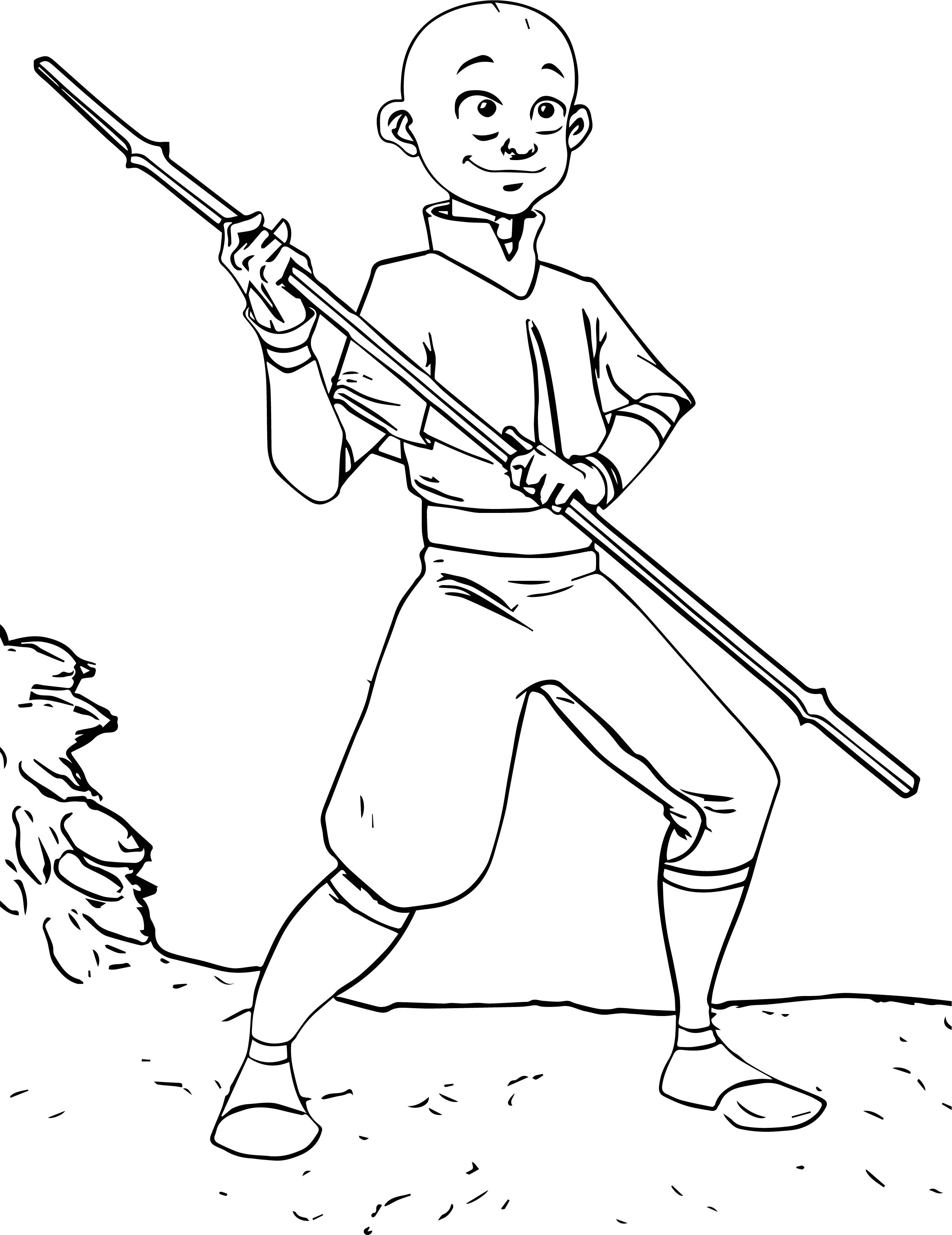 Aang the last airbender jtrazbo avatar aang coloring page for Avatar the last airbender coloring pages