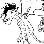 American Dragon Jake Long One Coloring Page
