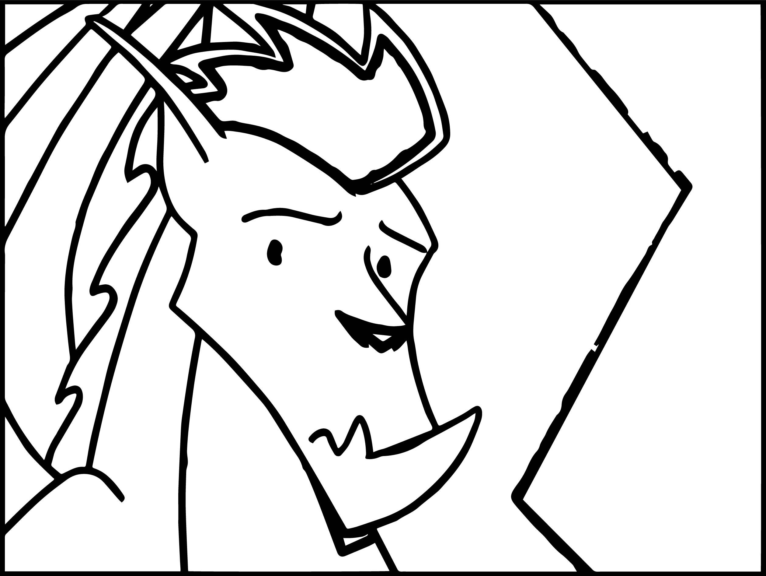 American Dragon Jake Long Sad Face Coloring Page
