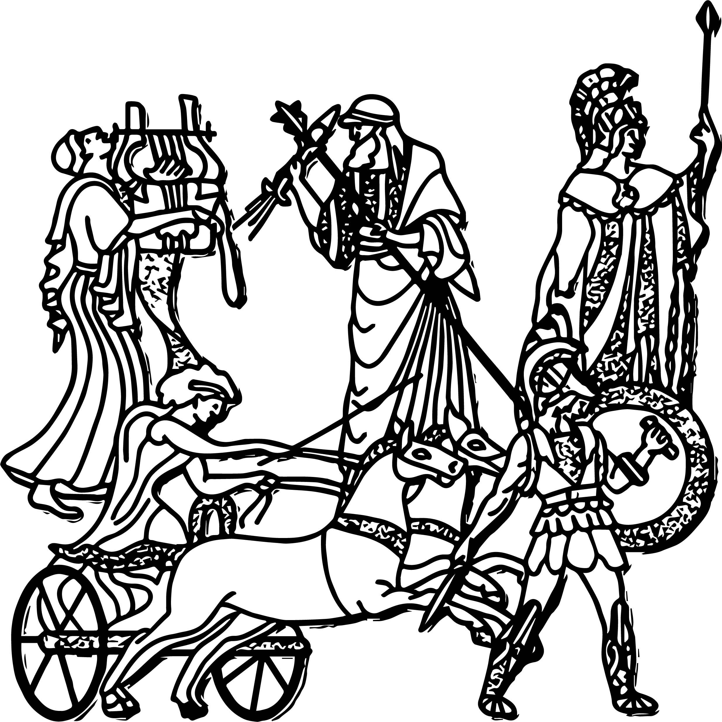 Ancient Greece Civilization Coloring Page