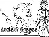 Ancient Greece Map Coloring Page