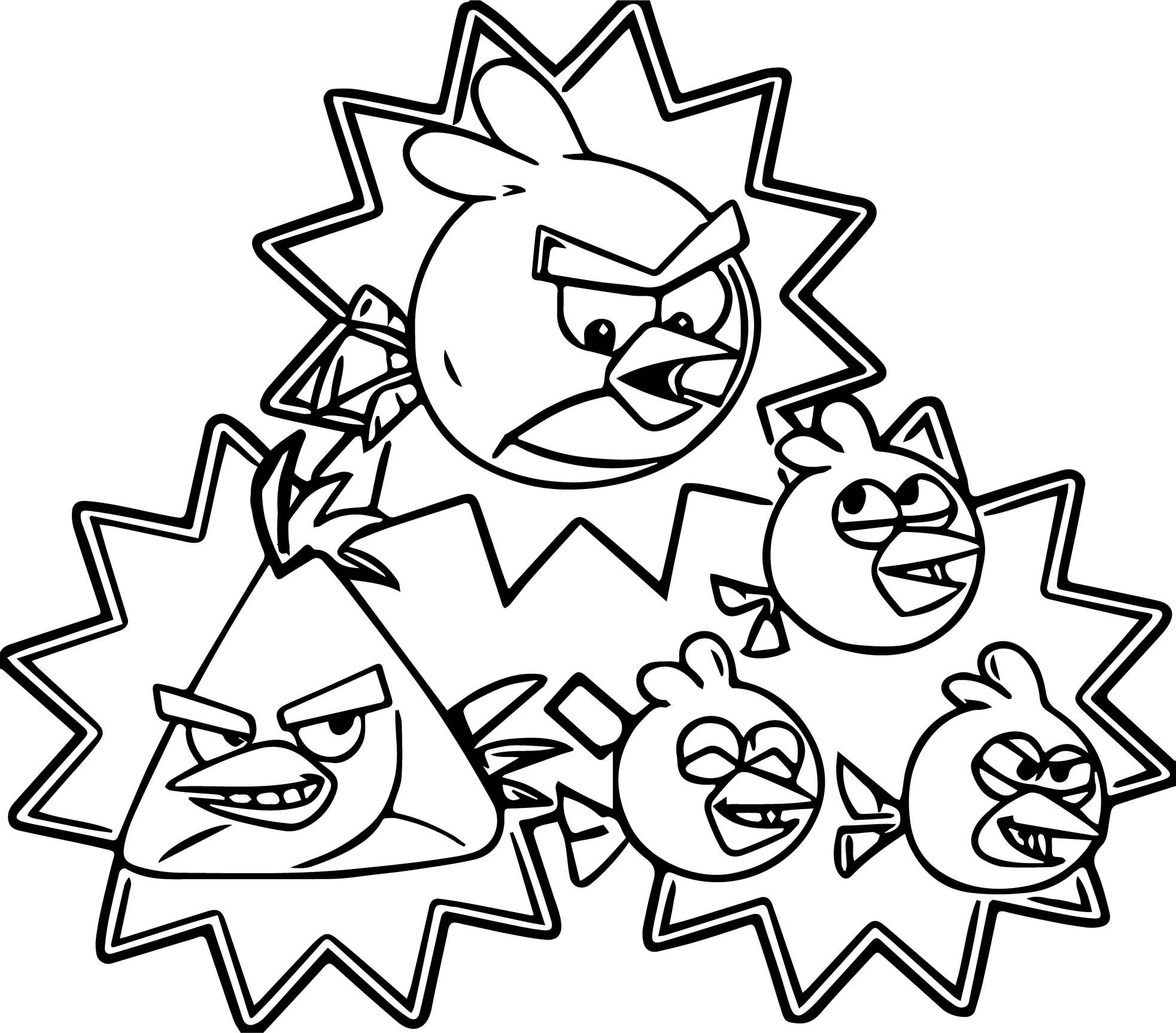 Angry birds cartoon coloring page for Angry birds rio coloring pages