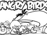 Angry Birds Group Coloring Page