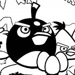 Angry Birds Night Coloring Page