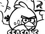Angry Birds Seasons Coloring Page