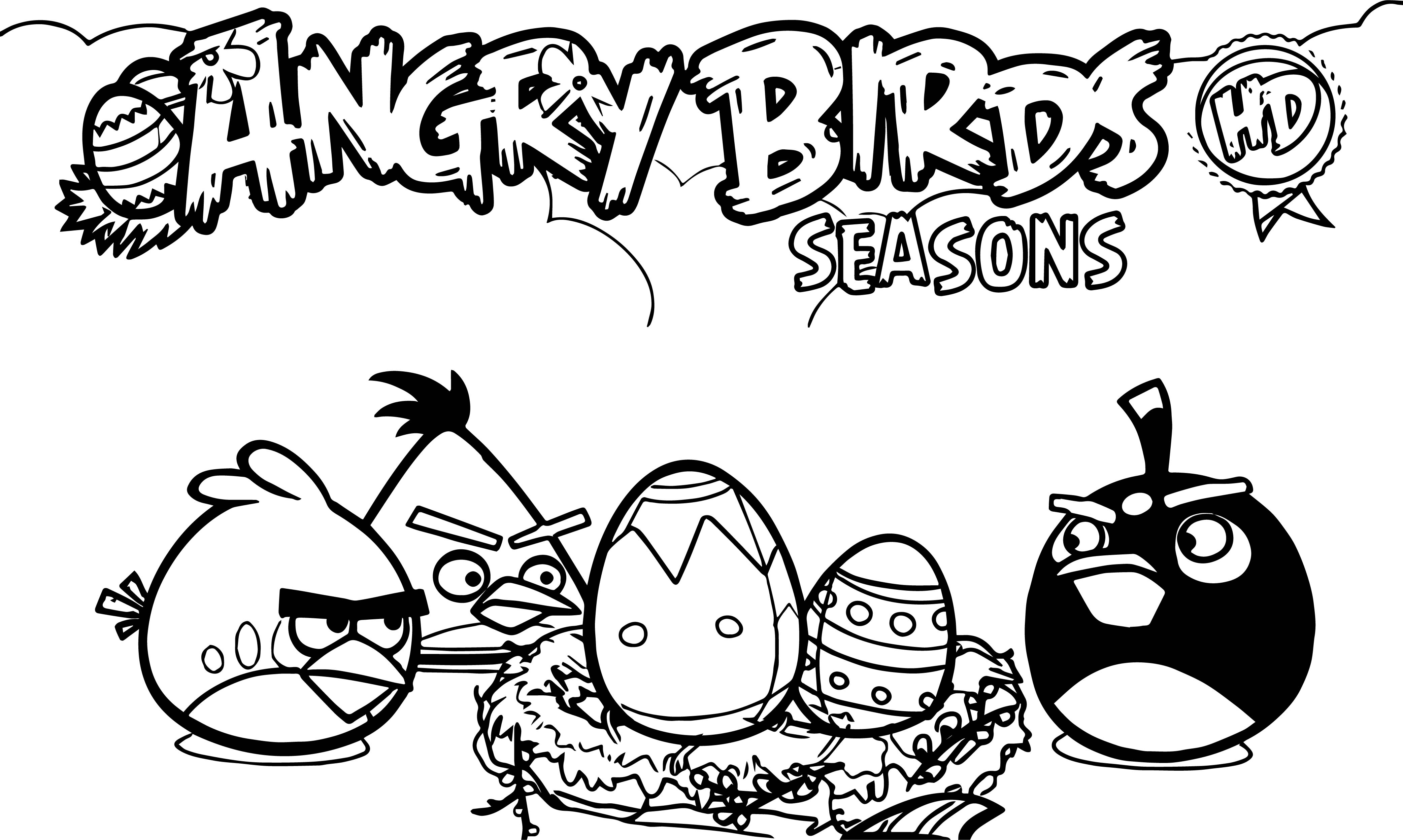 Angry Birds Seasons Hd Coloring Page Wecoloringpage