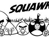 Angry Birds Squawk Coloring Page