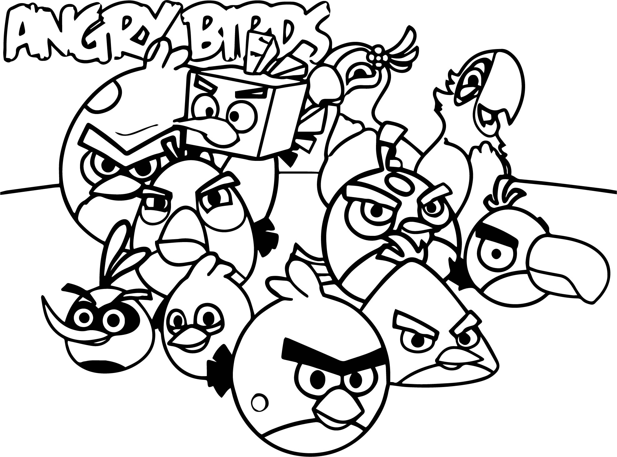 Angry birds wallpaper color coloring page for Blue angry bird coloring page