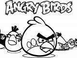 Angry Birds Wallpaper Coloring Page