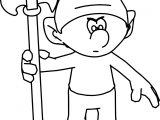 Angry King Smurf Soldier Coloring Page