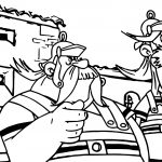 Asterix Catch Him Coloring Page