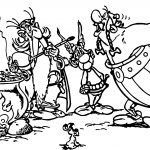 Asterix Food Coloring Page