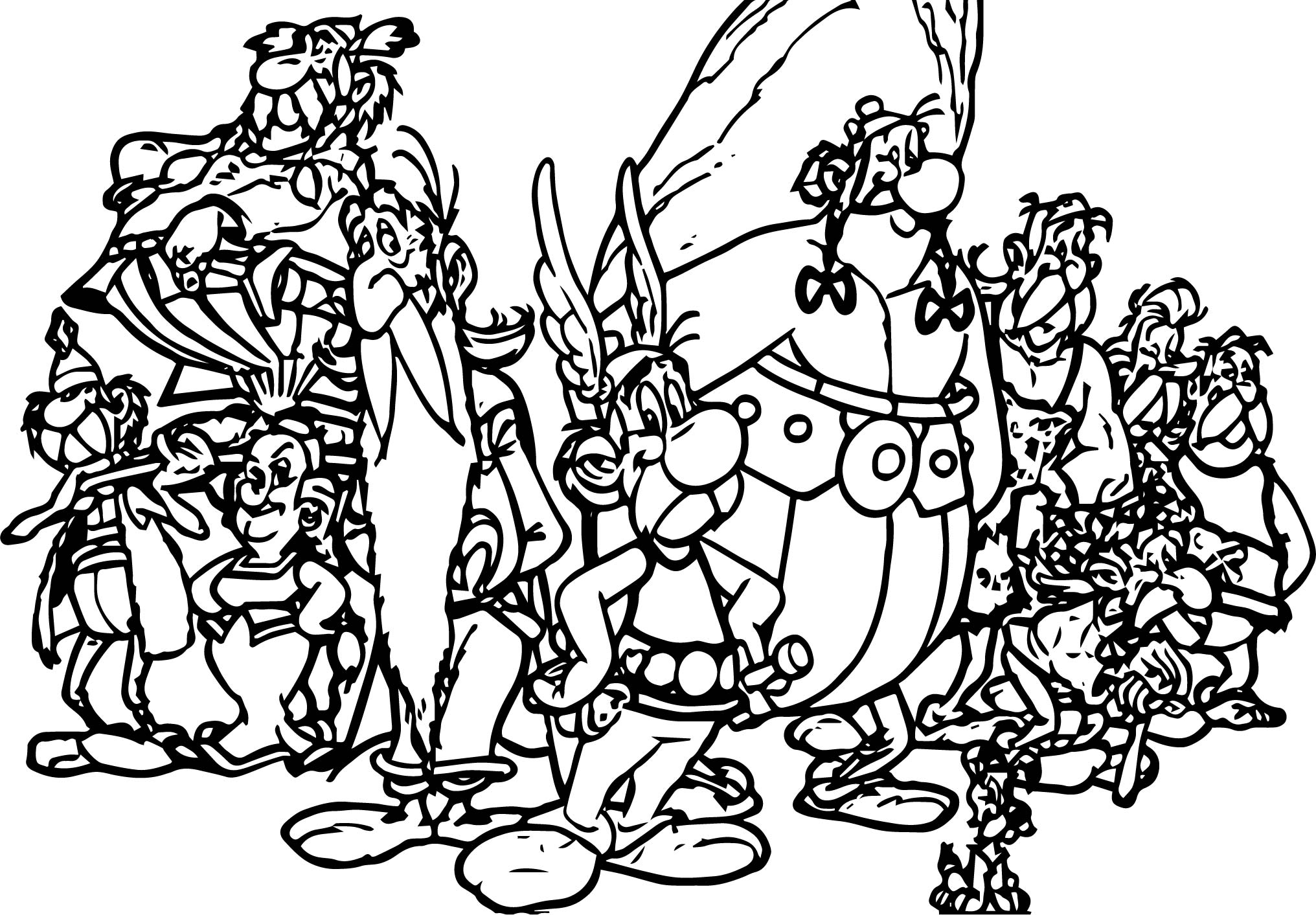 Asterix Team Coloring Page