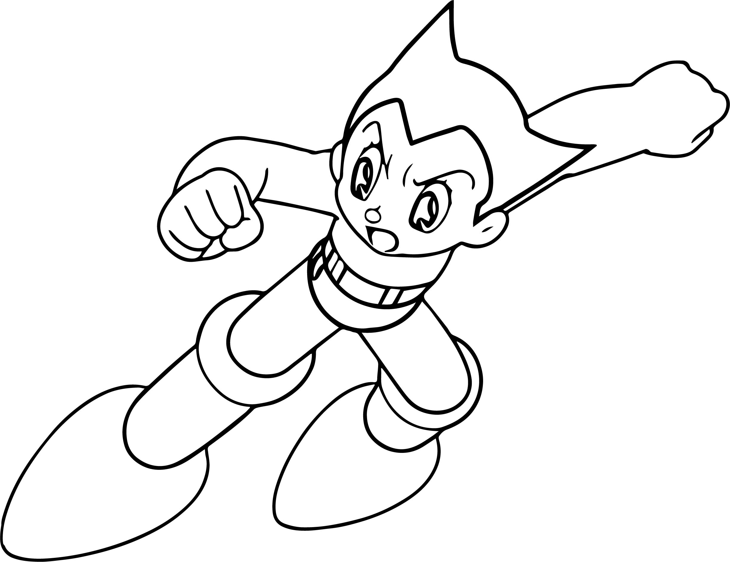 Astro Boy Fall Coloring Page