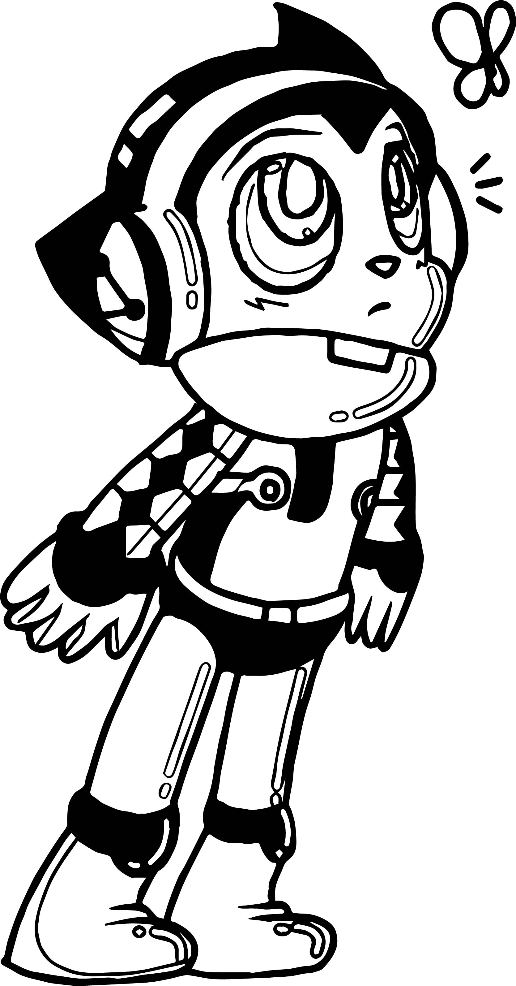 Astro Boy Mighty Coloring Page