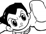 Astro Boy Touch Coloring Page