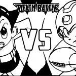 Astro Boy Vs Mega Man Coloring Page
