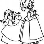 Aurora Flora Fauna and Merryweather Welcome Coloring Pages