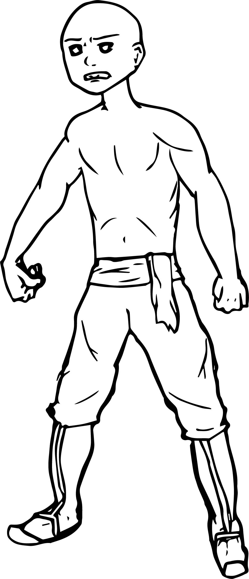 Avatar Aang Aznkai Drfiq Avatar Aang Coloring Page