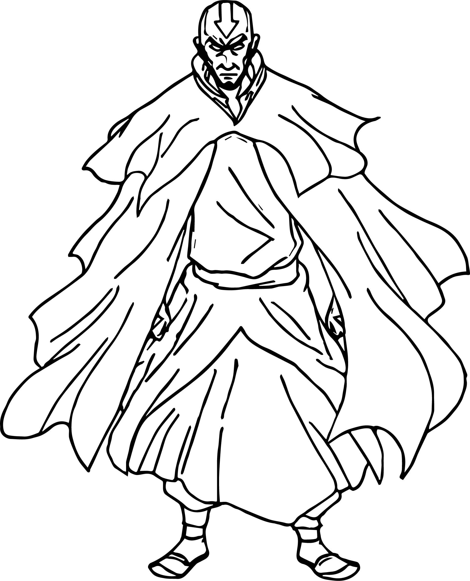 Avatar Aang Cyril Dmr Avatar Aang Coloring Page