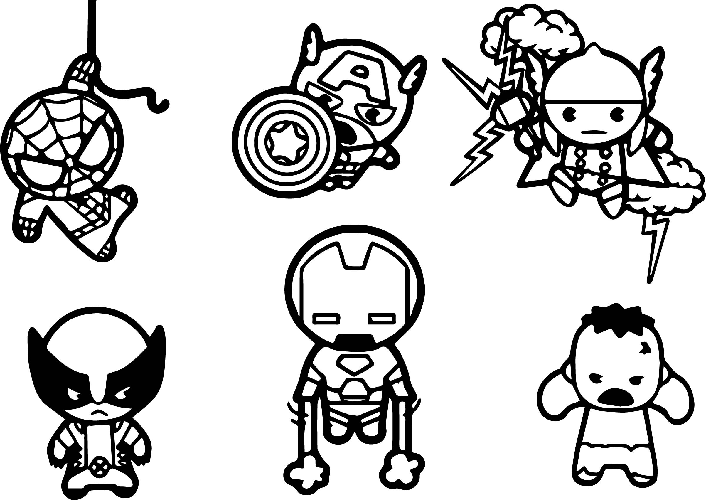 Chibi Vision Marvel Coloring Pages