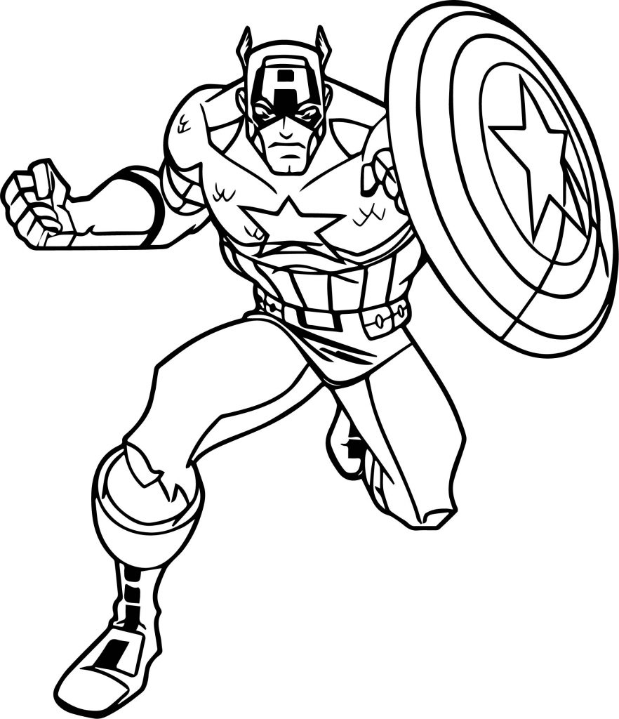 Avengers Captain America Coloring