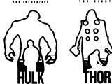Avengers Silhouette Coloring Page