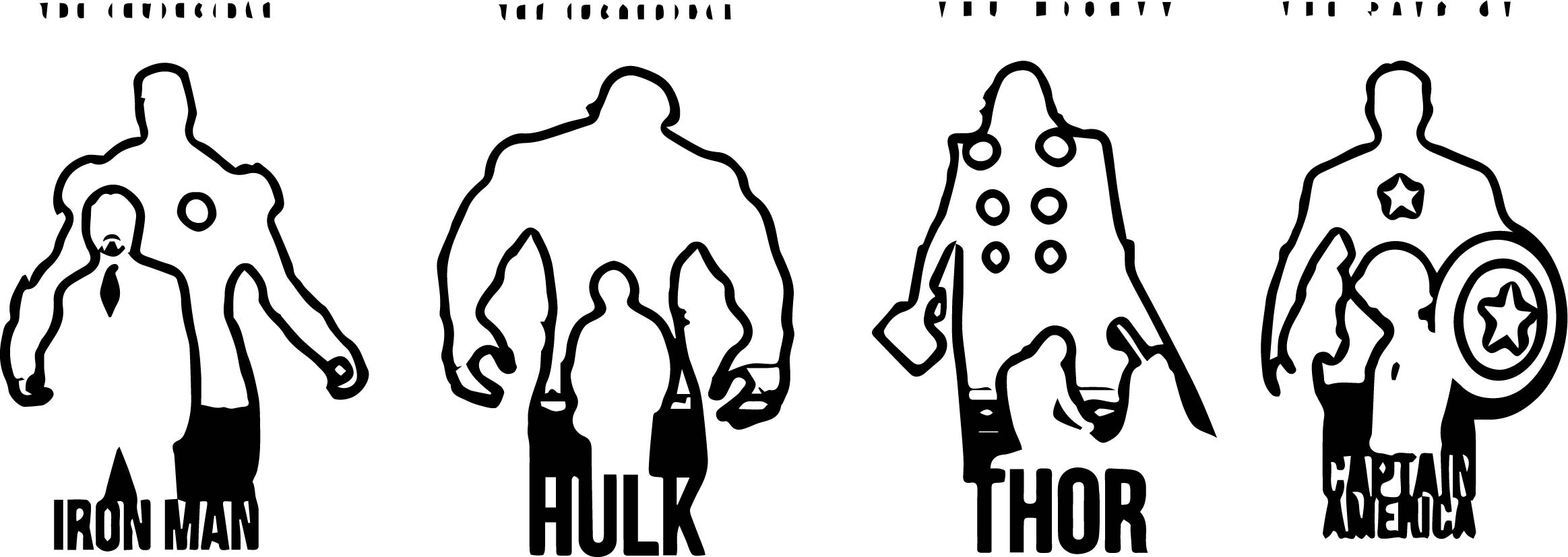 Avengers Silhouette Coloring Page Wecoloringpage Com