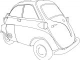 BMW Isetta 250 Car Cute Coloring Page