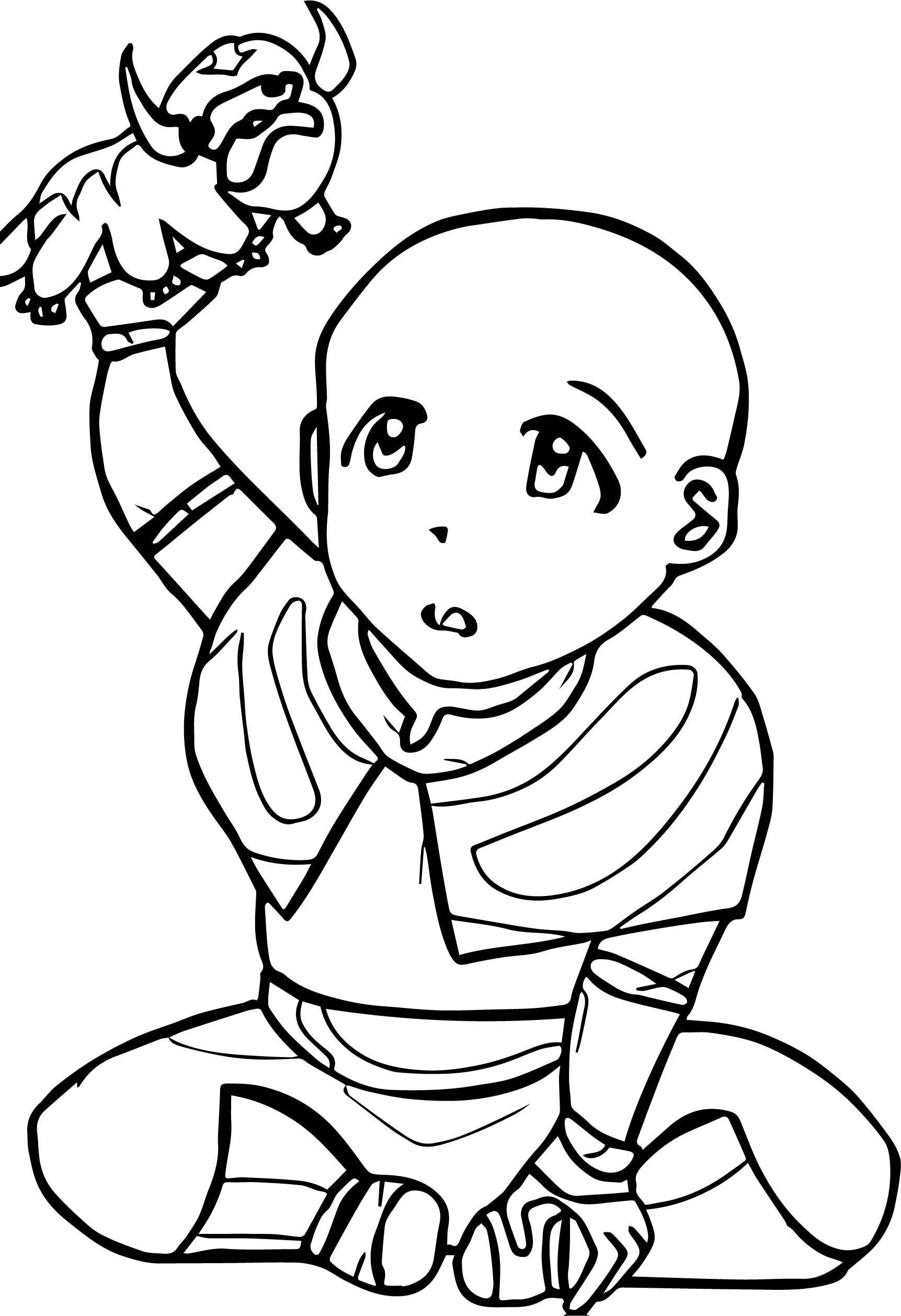 Ba Aang Avatar The Last Airbender Avatar Aang Coloring Page