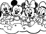 Baby Mickey And Friends Coloring Page
