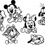 Baby Mickey And Friends Together Coloring Page