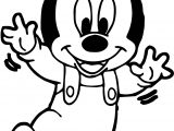 Baby Mickey Balance Coloring Page