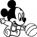 Baby Mickey Ball Coloring Page