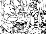 Baby Piglet And Friends Think Coloring Page