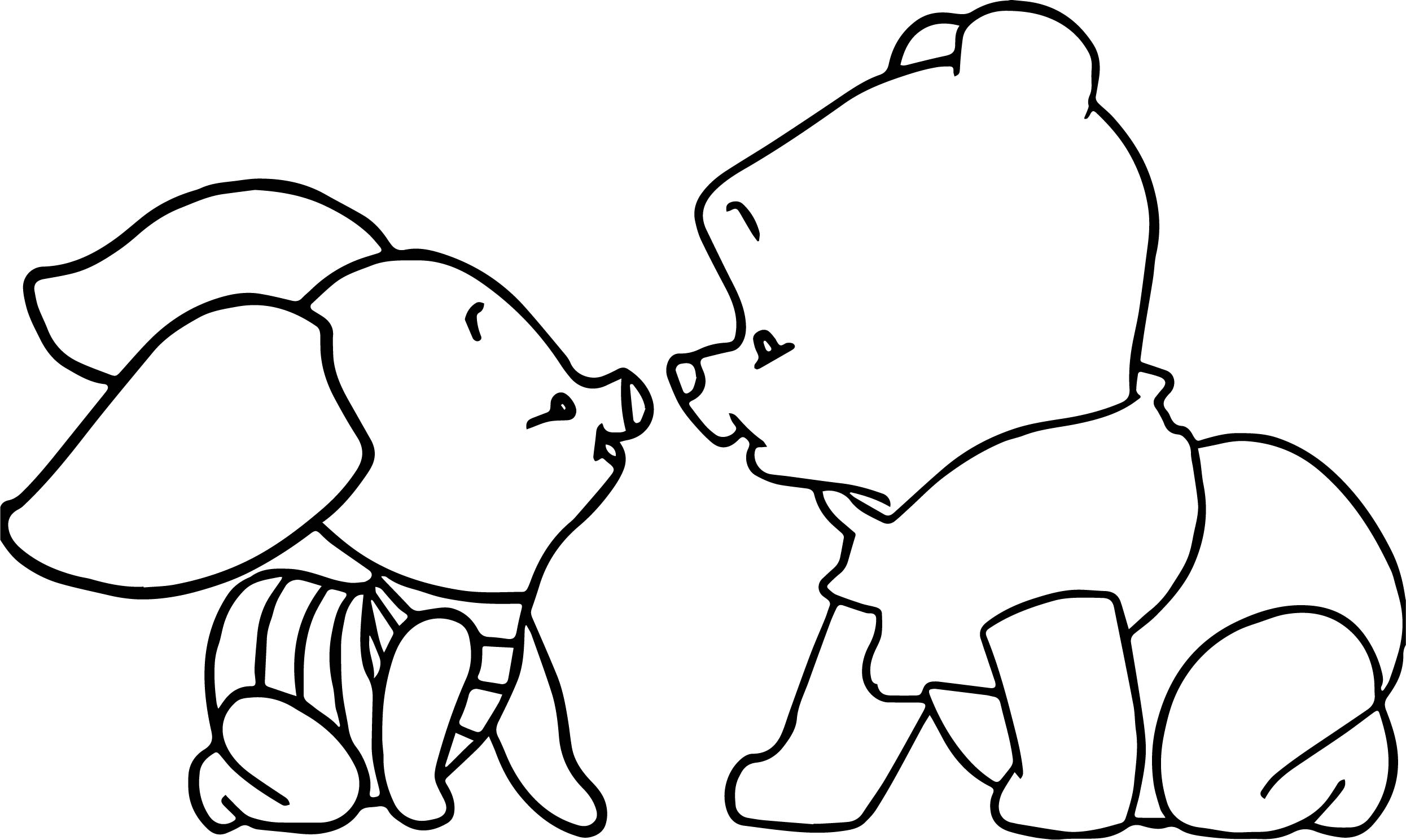 Baby piglet winnie the pooh crawling coloring page for Winnie the pooh baby coloring pages