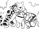 Baby Piglet Winnie The Pooh Friends Together Coloring Page
