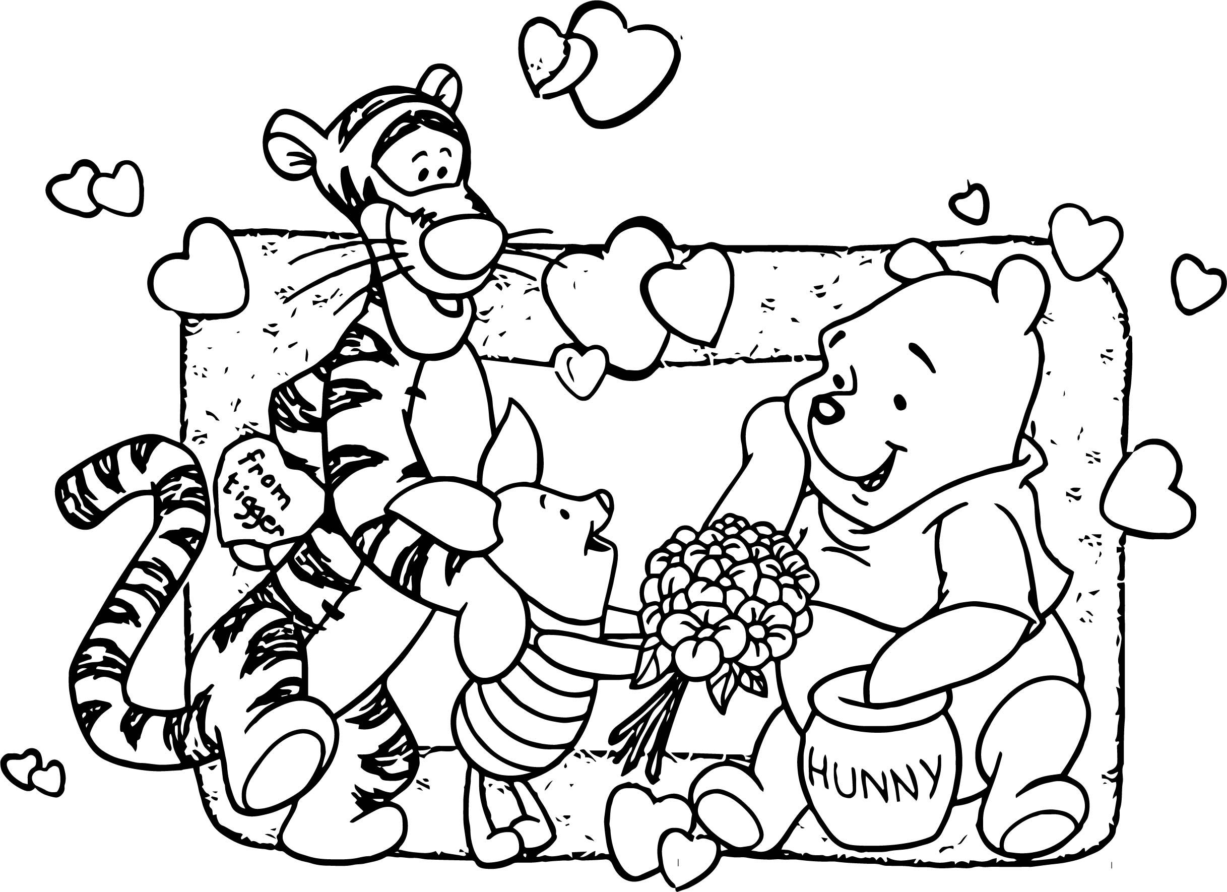 Baby Piglet Winnie The Pooh From Tigger Hunny Coloring Page ...