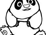 Baby Po Kung Fu Panda Coloring Page