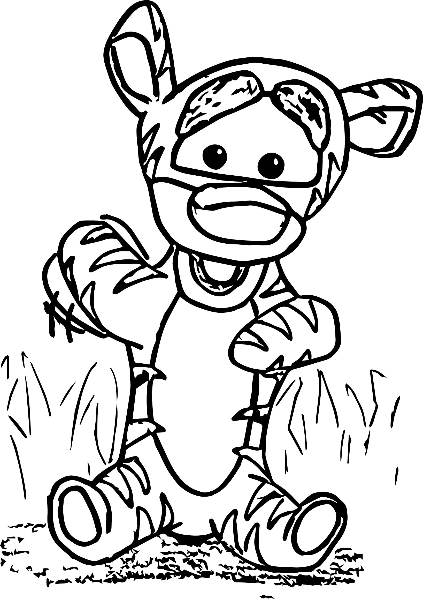 Baby Tigger Front Coloring Page Wecoloringpage Com