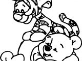 Baby Tigger Jump On Body Coloring Page