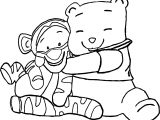 Baby Tigger Winnie The Pooh Hug Coloring Page