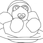 Baby Turtle Cartoon Coloring Page