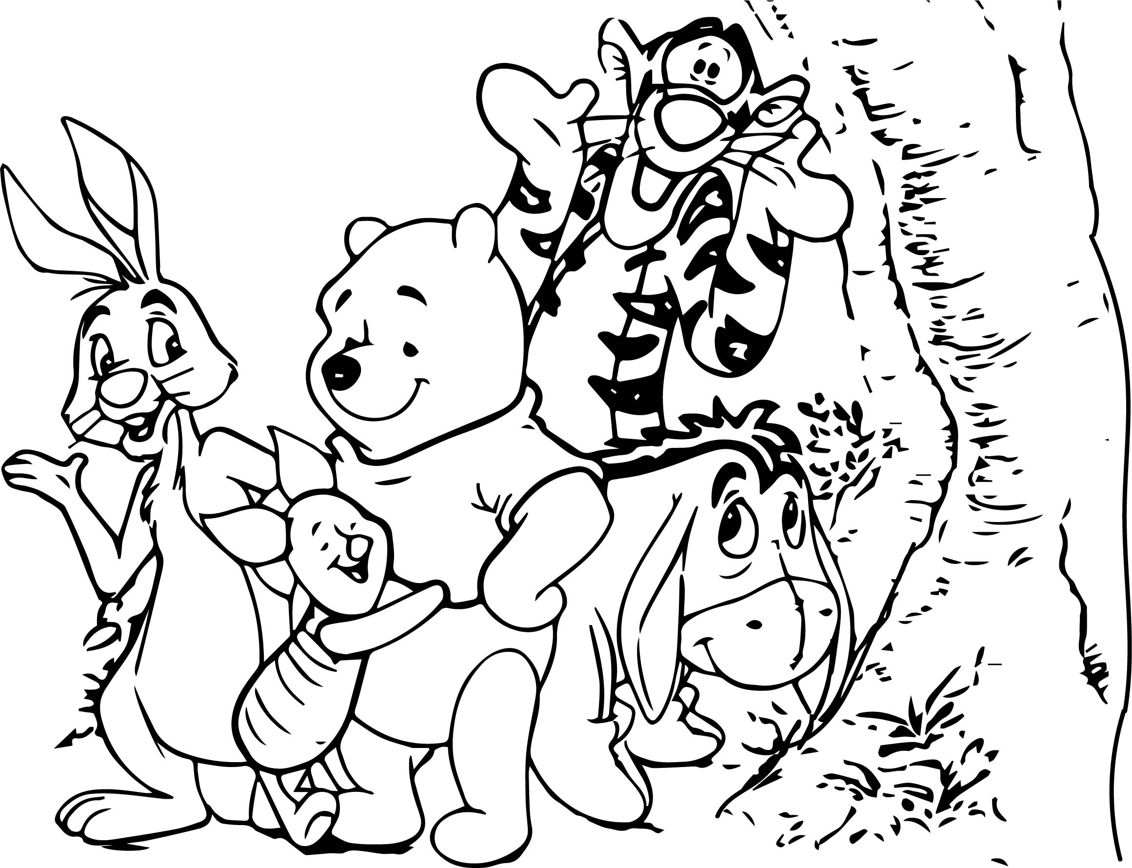 Baby winnie pooh and friends characters free coloring for Winnie the pooh and friends coloring pages