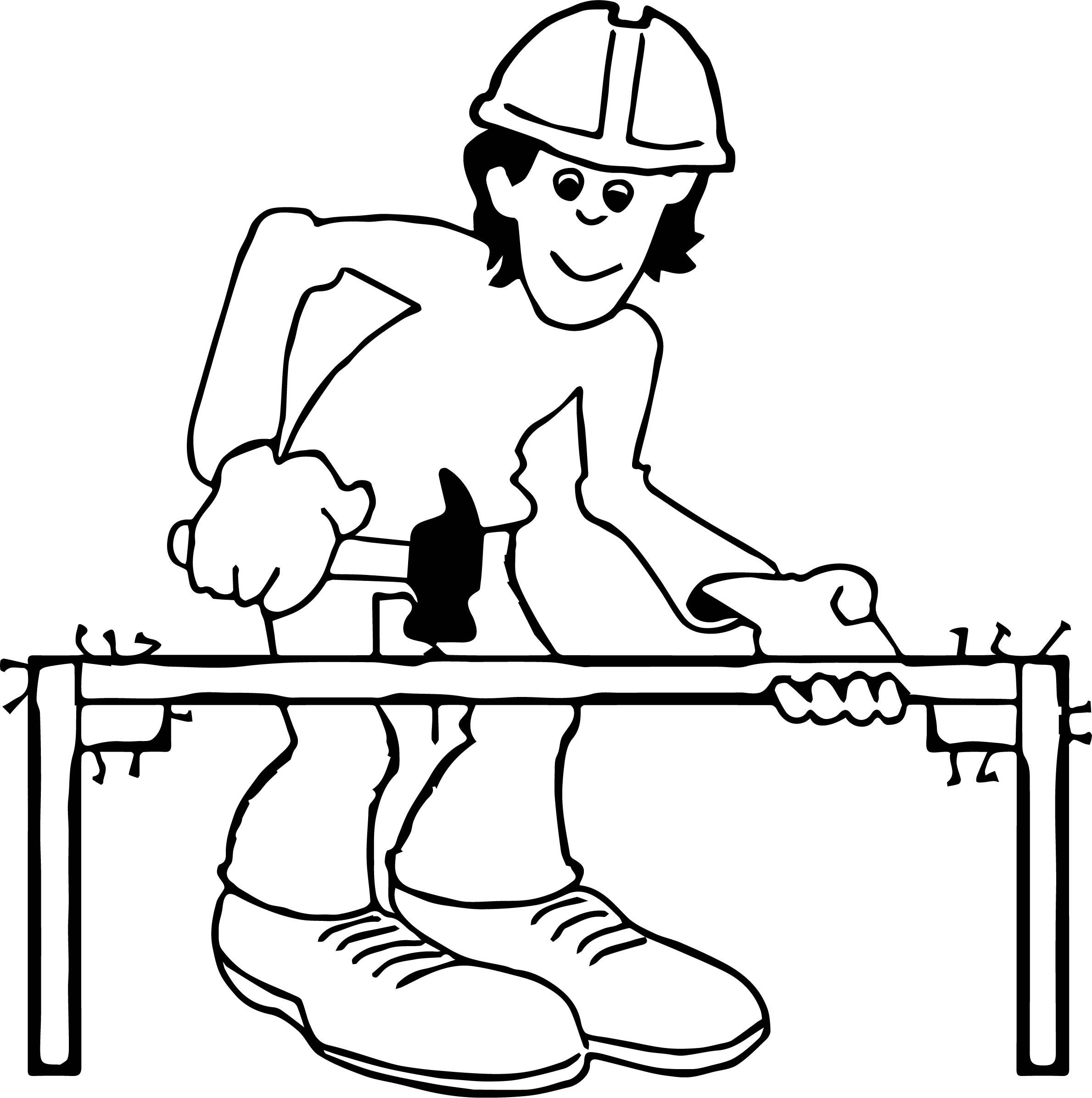 Bad Work Carpenter Coloring Page